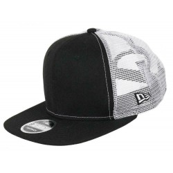 New Era Trucker Cap | Schwarz/Weiß | Original New Era Trucker Snapback Kappe