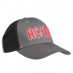 AC/DC Baseball Cap Red Rock | Lizenzierte AC-DC 3D Logo Snapback Caps Kappen Mützen Hats