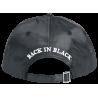 AC/DC Nylon Cap Black | Lizenzierte AC-DC 3D Logo Snapback Caps Kappen Mützen Hats