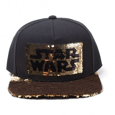 Star Wars Cap | Limited Gold Edition Snapback mit Pailletten
