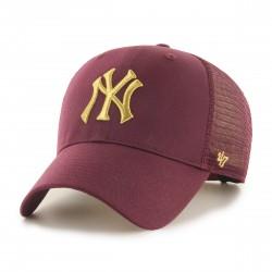 New York Yankees Trucker Cap | Bordeauxrot/Gold | Original '47™ MLB YANKEES Basecap