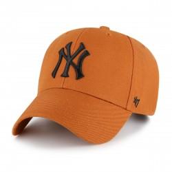 New York Yankees Cap | Blutorange/Schwarz | Original '47™ MLB YANKEES Basecaps Snapbacks Mützen