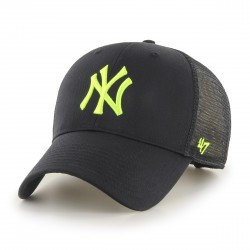New York Yankees Trucker Cap | Schwarz/Neongelb | Original '47™ MLB YANKEES Basecaps Snapbacks Mützen