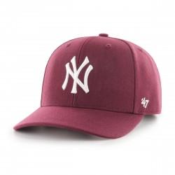 New York Yankees Cap | Bordeauxrot/Weiß | Original '47™ DP MLB YANKEES Basecaps Snapbacks Mützen