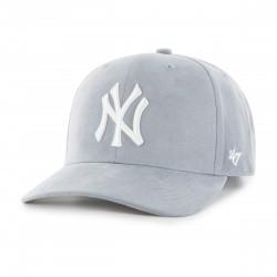 New York Yankees Cap | Hellgrau/Weiß | Original '47™ DP MICROFASER MLB YANKEES Basecaps Mützen Hats