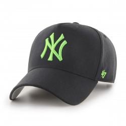 New York Yankees Cap | Schwarz/Neongrün | Original '47™ MLB YANKEES Basecaps Snapbacks Mützen Hats