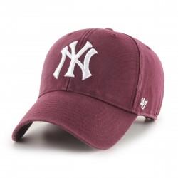 New York Yankees Cap | Bordeauxrot/Weiß | Original '47™ COTTON MLB YANKEES Basecaps Snapbacks Mützen