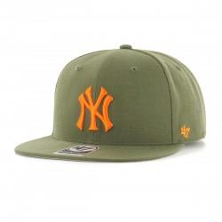New York Yankees Cap | No Shot Olivengrün/Orange Cap | Original '47™ MLB YANKEES Captain Basecaps Snapbacks