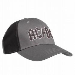 AC/DC Baseball Cap Gray Rock | Lizenzierte AC-DC 3D Logo Snapback Caps Kappen Mützen Hats