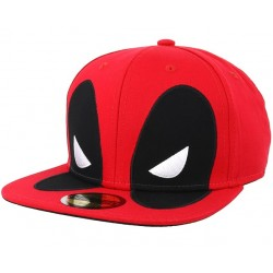 Deadpool BIG Face Cap | Marvel Comics Deadpool Kappen mit 3D Bestickung
