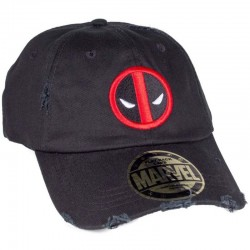 Ripped Deadpool Cap | schwarze Deadpool Grunge Baseball Caps