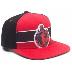 Deadpool Stripe Badge Cap | Marvel Comics Deadpool Hardcore Snapback Caps