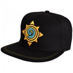 Hearthstone Cap | Heroes of Warcraft Logo Snapback Cap schwarz | HotS Kappe
