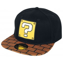 Super Mario Cap | Question Block Nintendo Snapback Cap Kappe Basecap