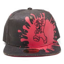 Super Mario Black Cork Cap | Retro Nintendo Mario Cork Snapback Caps Mützen