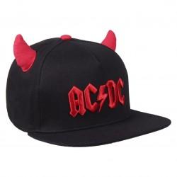 AC/DC Hells Bells Kappe mit LITTLE Hörnern | Lizenzierte AC-DC Snapback Caps Kappen Mützen Hats