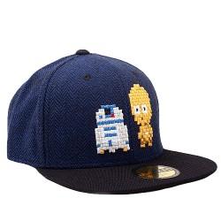 R2-D2 & C3PO Pixel Cap | Star Wars Retro Snapback Caps Kappen Basecaps Mützen