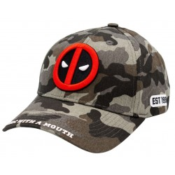 Deadpool Logo Camo Cap | Marvel Merc With A Mouth Baseball Caps Kappen Mützen