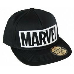 Marvel Black Logo Caps  Offizielle MARVEL UNIVERSE Retro Snapback Cap