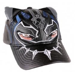 Black Panther Mask Cap  Marvels Black Panther Cosplay Caps Kappen aus Leder