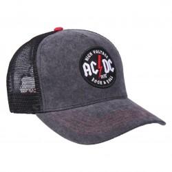 AC/DC High Voltage 1975 Trucker Cap | Lizenzierte AC-DC 3D Logo Snapback Caps Kappen Mützen Hats