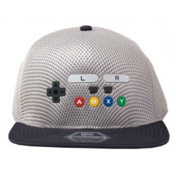 Nintendo Stretch Full Cap Grau | NES Controller Kappen Basecaps Baseball Caps Mützen Hats
