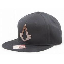 Assassins Creed Cap mit Messing Logo - Schwarz  UBISOFT Originale ASSASSINS Basecaps Snapbacks Mützen Hats