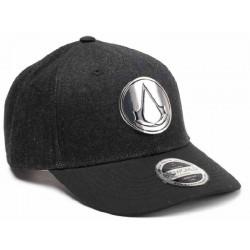 Assassins Creed Cap mit Metall Logo - Schwarz  UBISOFT Originale ASSASSINS Basecaps Snapbacks Mützen Hats