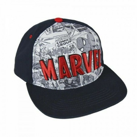 Marvel Comics Logo Caps | Offizielle MARVEL UNIVERSE Retro Snapback Cap